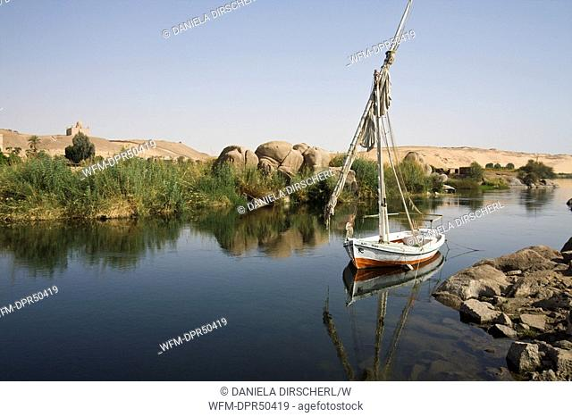Felucca on Nile River Cataract, Aswan, Egypt
