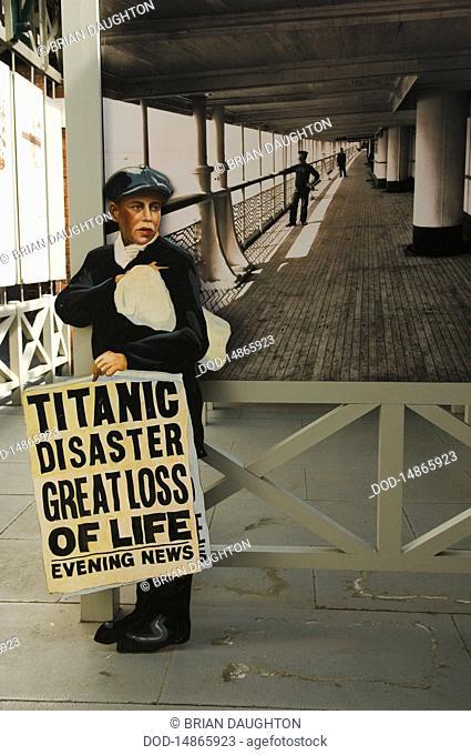 Republic of Ireland, Newspaper Boy, Titanic Disaster, Cobh
