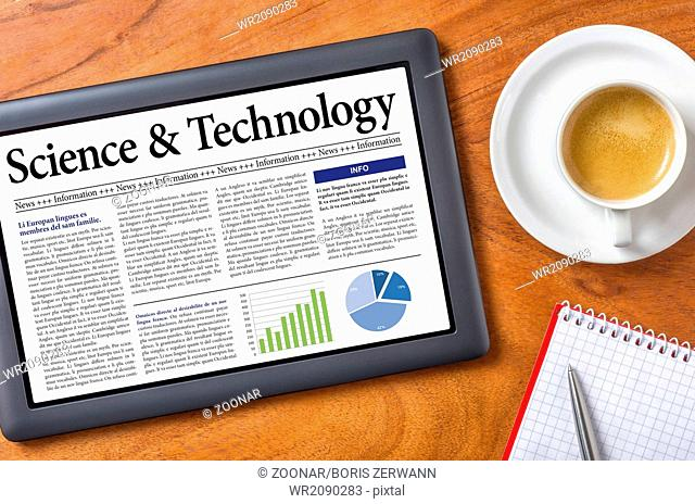 Tablet on a desk - Science and Technology