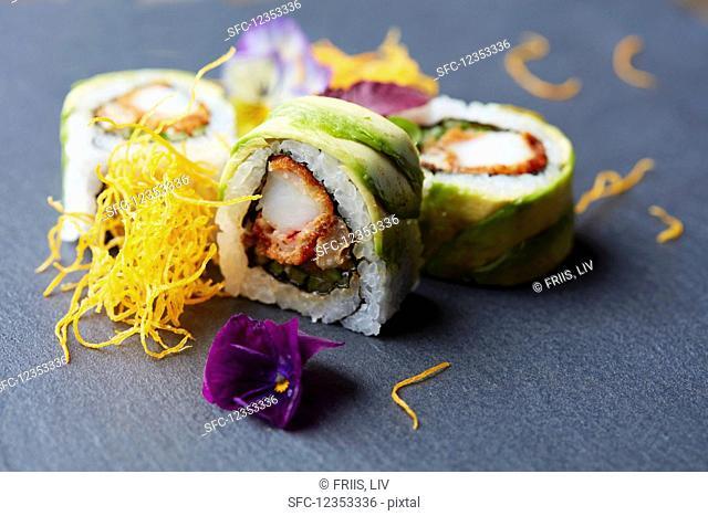 Avocado maki rolls (Japan)