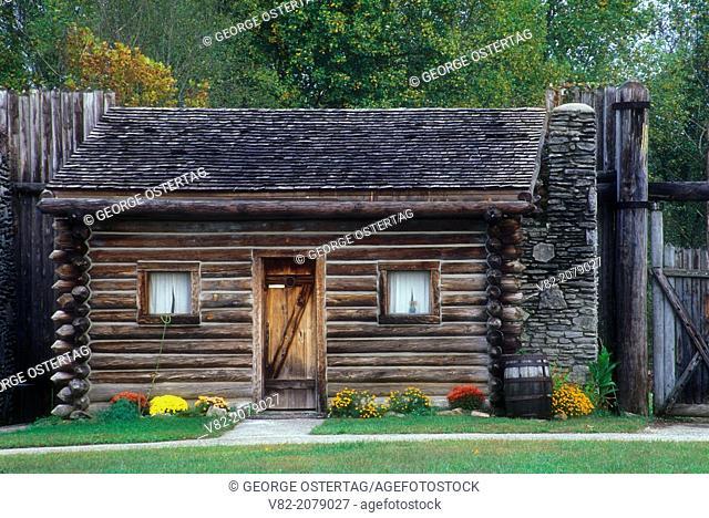 Fort scene, Fort Boonesborough State Park, Kentucky