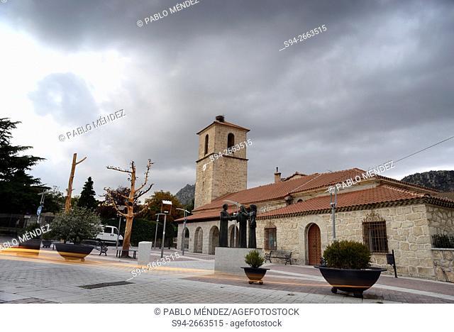 Church of Inmaculada Concepción in La Cabrera, Madrid, Spain