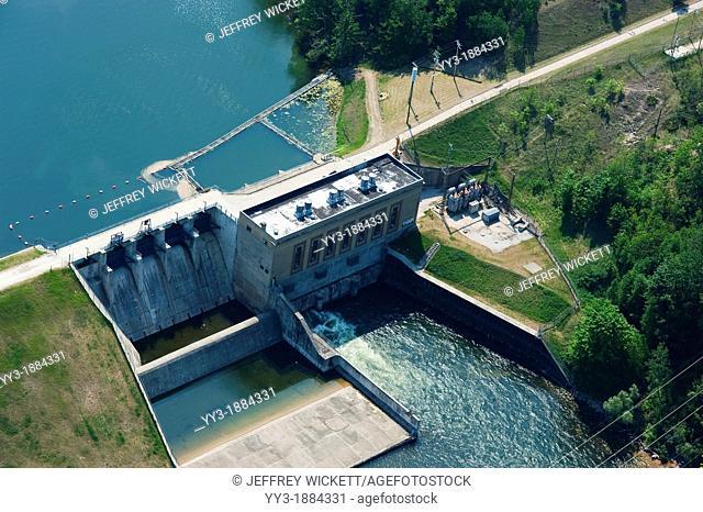 Tippy dam on the Big Manistee River, Michigan, USA