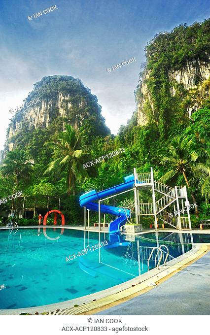 swimming pool, P.N. Mountain Resort, Ao Luk, Krabi, Thailand