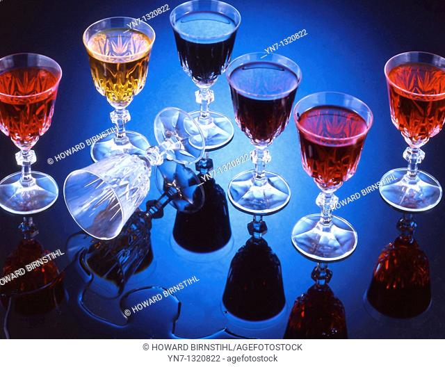 still life with wine glasses