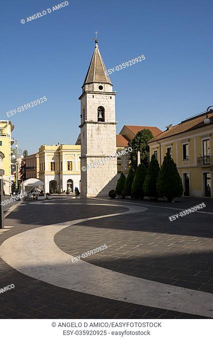 Ancient Bell Tower of the Church of Santa Sofia in Benevento (Italy)