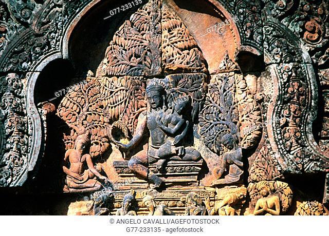 Banteay Srei Temple in Angkor. Cambodia