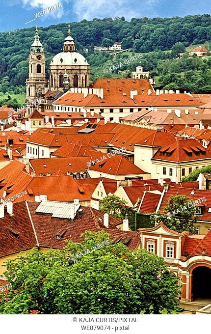 Rooftops, Prague. Czech Republic