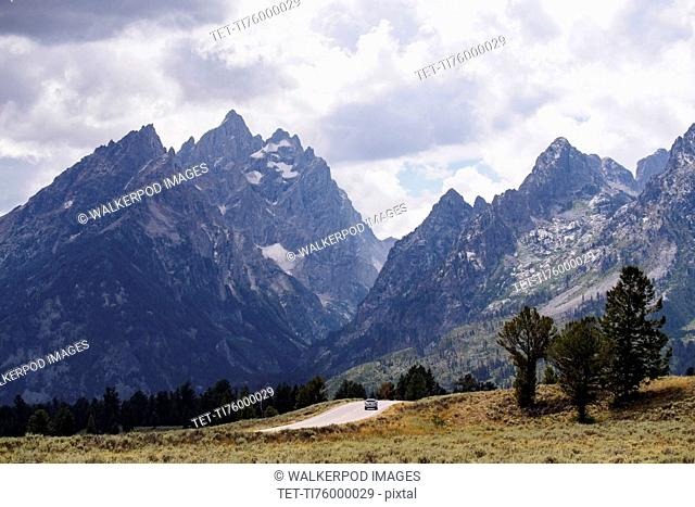 Mountain landscape and cloudy sky