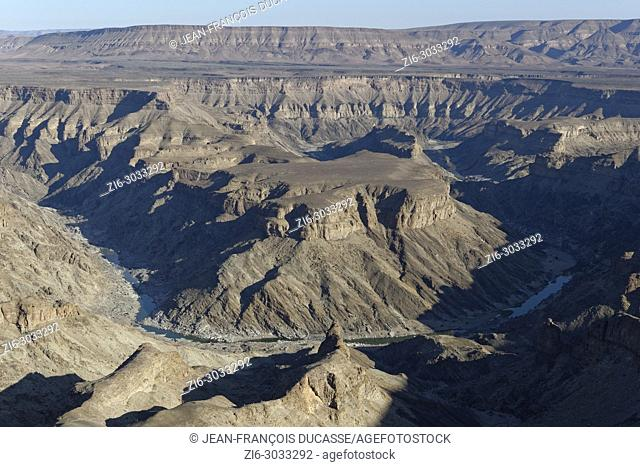 Fish River Canyon, view from the main lookout point, close to Hobas, Ai-Ais Richtersveld Transfrontier Park, Karas Region, Namibia, Africa