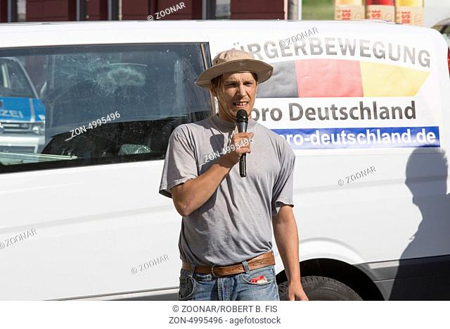Wahlkampfauftritt der Bürgerbewegung Pro Deutschland in Bielefeld, Foto: Robert B. Fishman, ecomedia, 26.8.2013