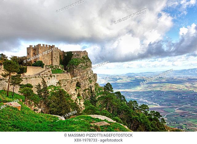Norman castle of Venus in Erice, Sicily, Italy