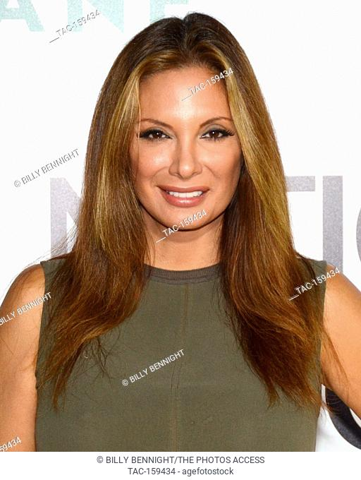 "Actress Alex Meneses arrives at the Los Angeles Premiere of National Geographic Documentary Films' """"Jane"""" at the Hollywood Bowl in Hollywood"