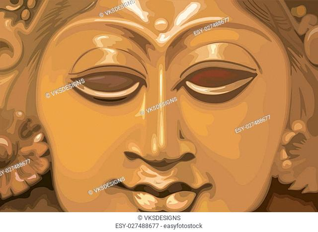 Lord Siva%u2019s face in golden radiant