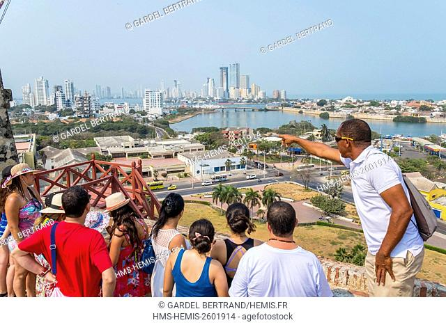 Colombia, Bolivar department, Cartagena, historical center listed as World Heritage by UNESCO, the Castle of San Felipe de Barajas