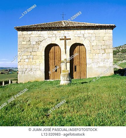 Chapel at the entrance to Curiel de Duero. Valladolid province, Spain