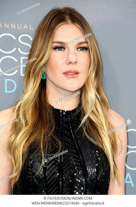 21st Annual Critics' Choice Awards - Arrivals Featuring: Lily Rabe Where: Santa Monica, California, United States When: 17 Jan 2016 Credit: FayesVision/WENN