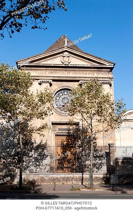 Paris, avenue Denfert Rochereau, Chapelle Saint Vincent de Paul, Photo Gilles Targat
