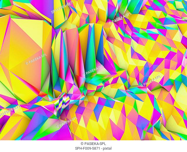 Geometric abstract polygonal background, computer artwork