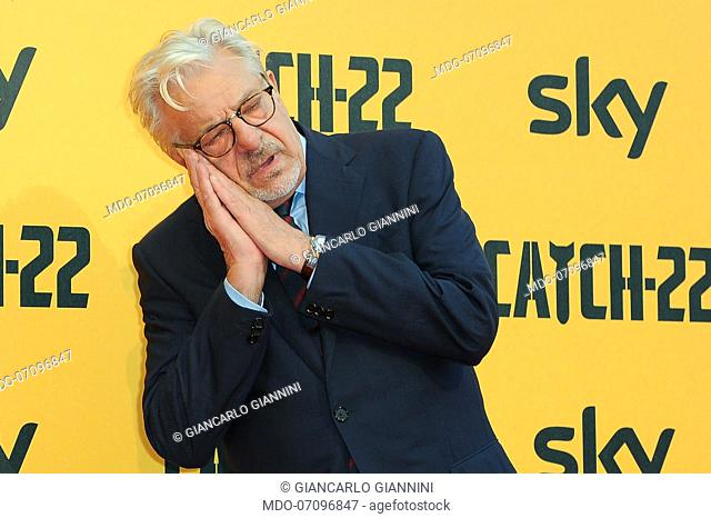 Italian actor and director Giancarlo Giannini attends the premiere of the Sky TV serie Catch-22. Rome (Italy), May 13th, 2019