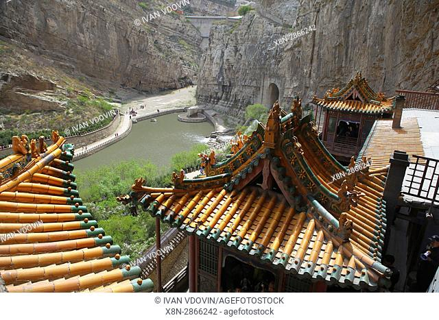 Hanging Monastery or Xuankong Temple, Shanxi, China