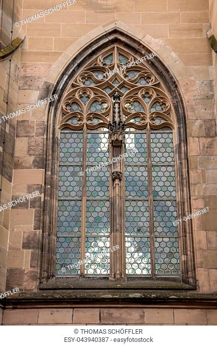 Old window of a historical building