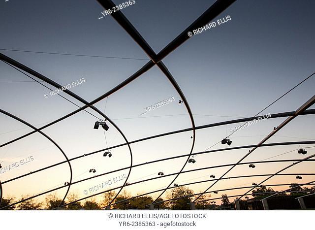 Jay Pritzker Pavilion during sunrise at Millennium Park in Chicago USA