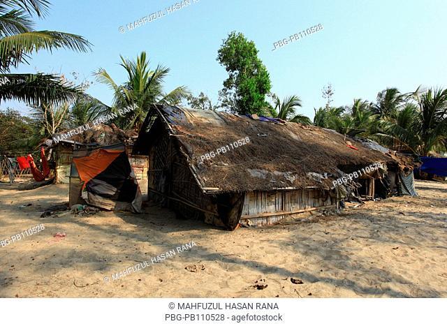 A rural house at Balukhali Ukhiya, Cox's Bazar, Bangladesh February 2011
