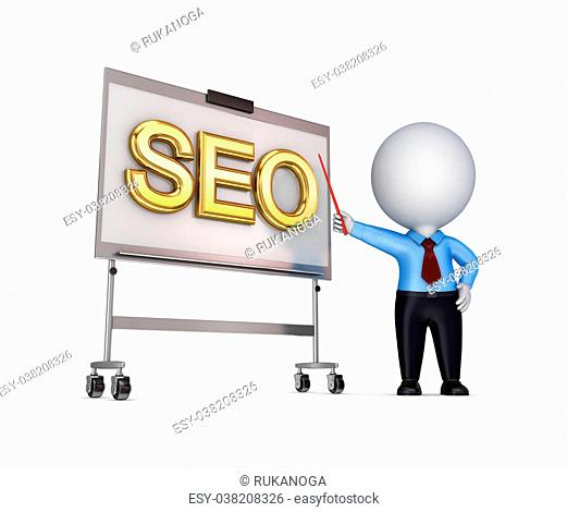SEO concept.Isolated on white background.3d rendered illustration