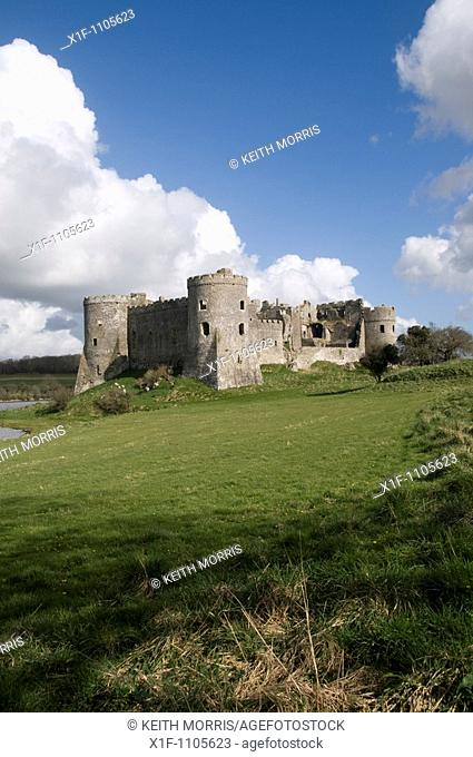 Carew castle, pembrokeshire, wales, UK