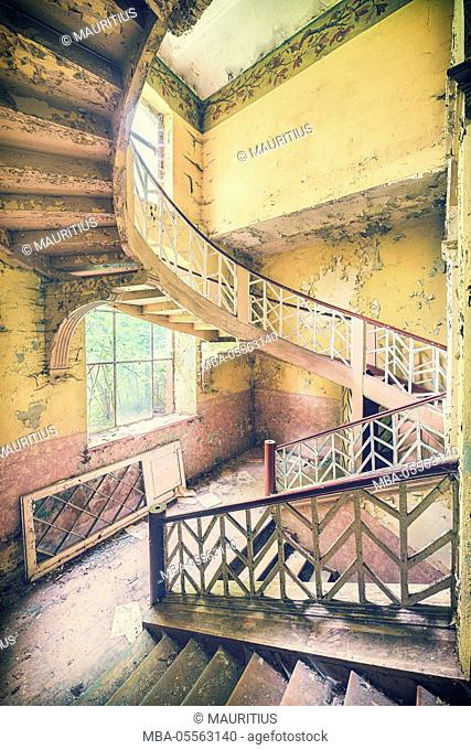 old stairwell in a castle