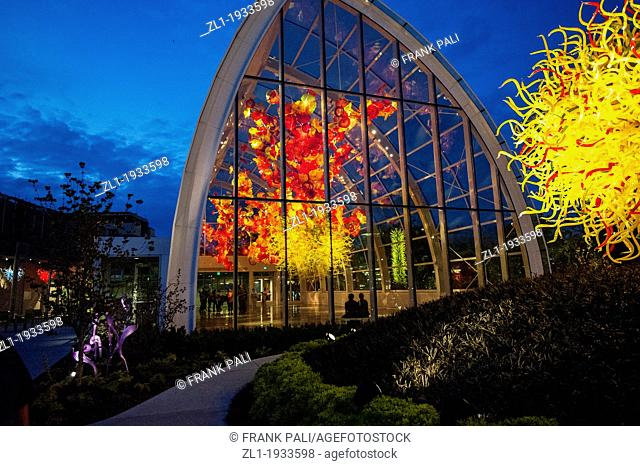 Glass House,Dale Chihuly Garden and Glass.Seattle,Washington USA