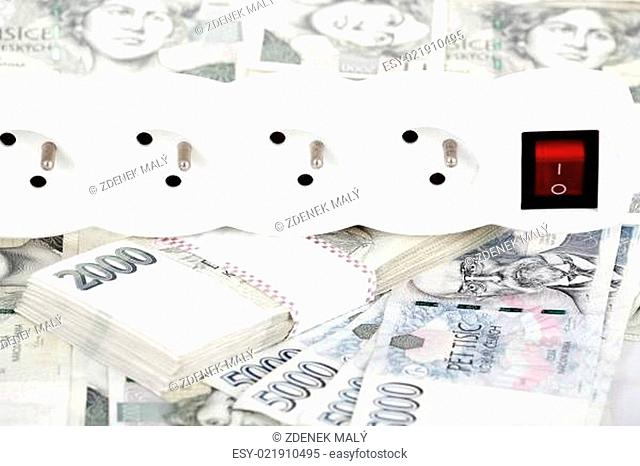 money concept of expensive energy bill
