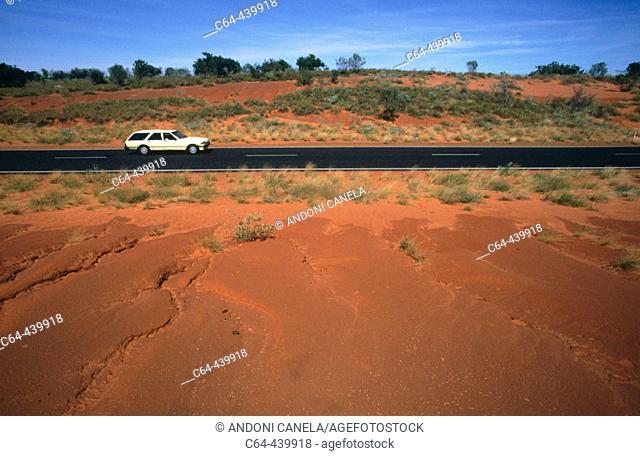 Road on the Great Sandy desert. Western Australia