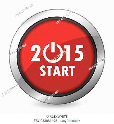 new year 2015 red icon new years symbol