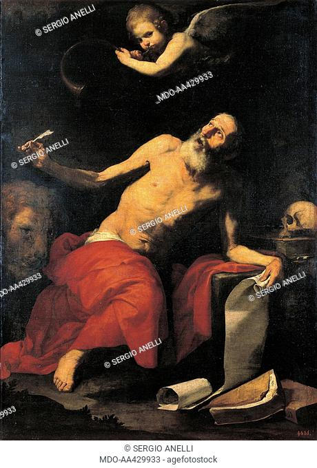 St. Jerome, by Jusepe de Ribera also known as Spagnoletto, 1626, 17th Century, oil on canvas, 185 x 133 cm. Russia, St. Petersburg, The State Hermitage Museum