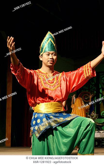 Man during cultural show, Cultural Village, Malaysia