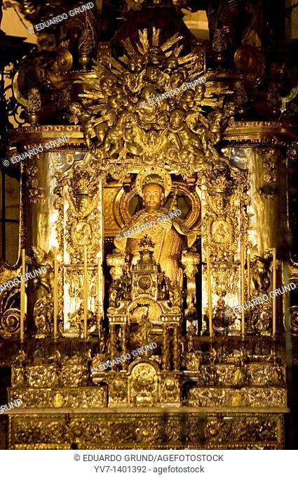 Apostle Santiago in the Cathedral, Santiago de Compostela, Coruña, Galicia, Spain