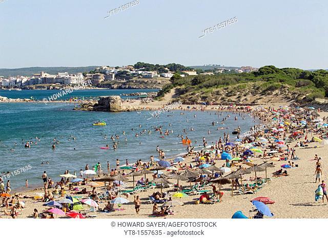 The beach at Sant Marti d'Empuries, Costa Brava, Catalonia, Spain
