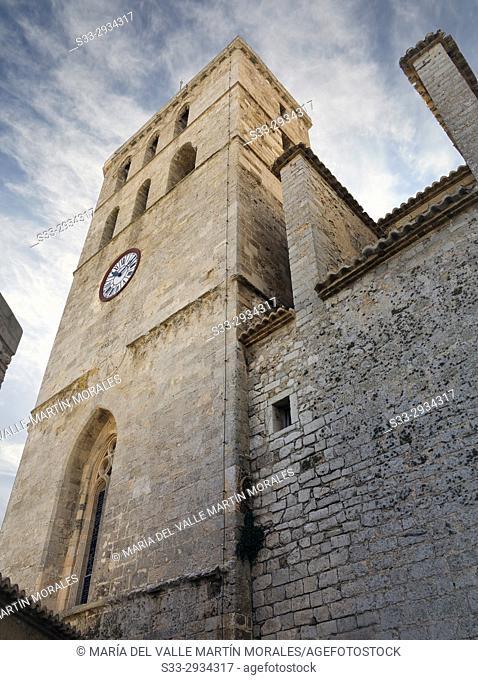 Eivissa Cathedral. Ibiza. Islas Baleares. Spain. Europe