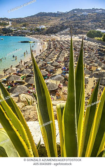 Super Paradise Beach. Mykonos Island. Ciclades Islands. Greece