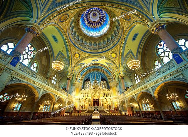 Interior of The Szeged Synagogue, Eclectic Style  Hungary