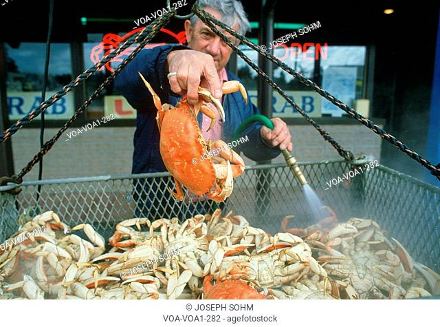 Crab vendor in Oregon