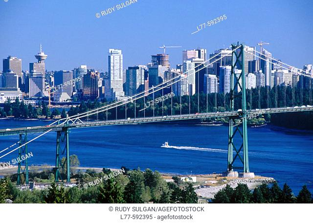 Lions Gate Bridge. Vancouver. British Columbia. Canada