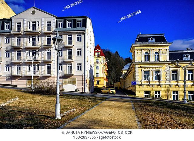 4 star historic Hotel Maria Spa, Spa resort Marianske Lazne - Marienbad, West Bohemia, Czech Republic, Europe