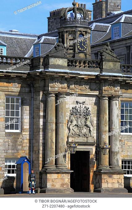UK, Scotland, Edinburgh, Palace of Holyroodhouse,