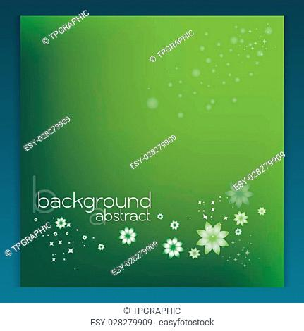 background abstract vector green flower star Beautiful shimmering color gradients