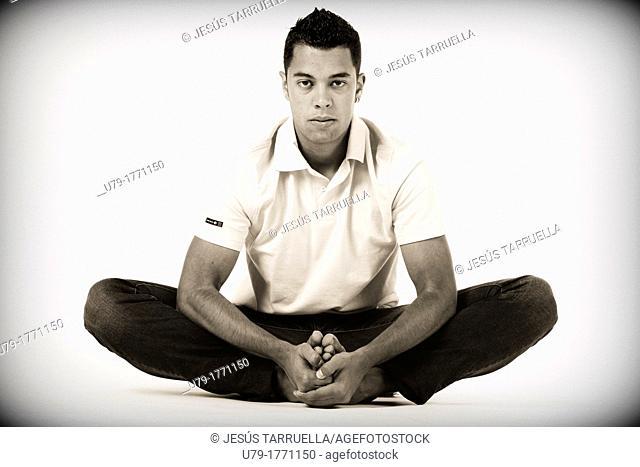 Portrait of man. Taekwondo fighter