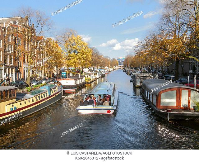 Prinsengracht Canal. Amsterdam