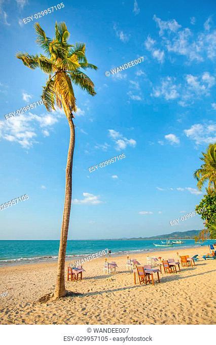 Beachfront restaurant - Seaside restaurant at Phuket island - Thailand